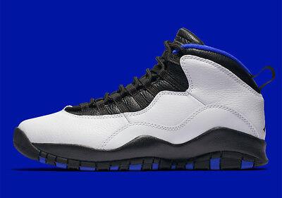 Nike Air Jordan X 10 Retro Orlando Magic Gs Sz 6.5y White Royal Black 310806-108 Boys' Shoes