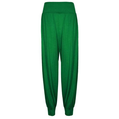 Femmes Alibaba Baggy Hareem Leggings Femme Harem Pantalon Pleine Longueur Pantalon 8-26