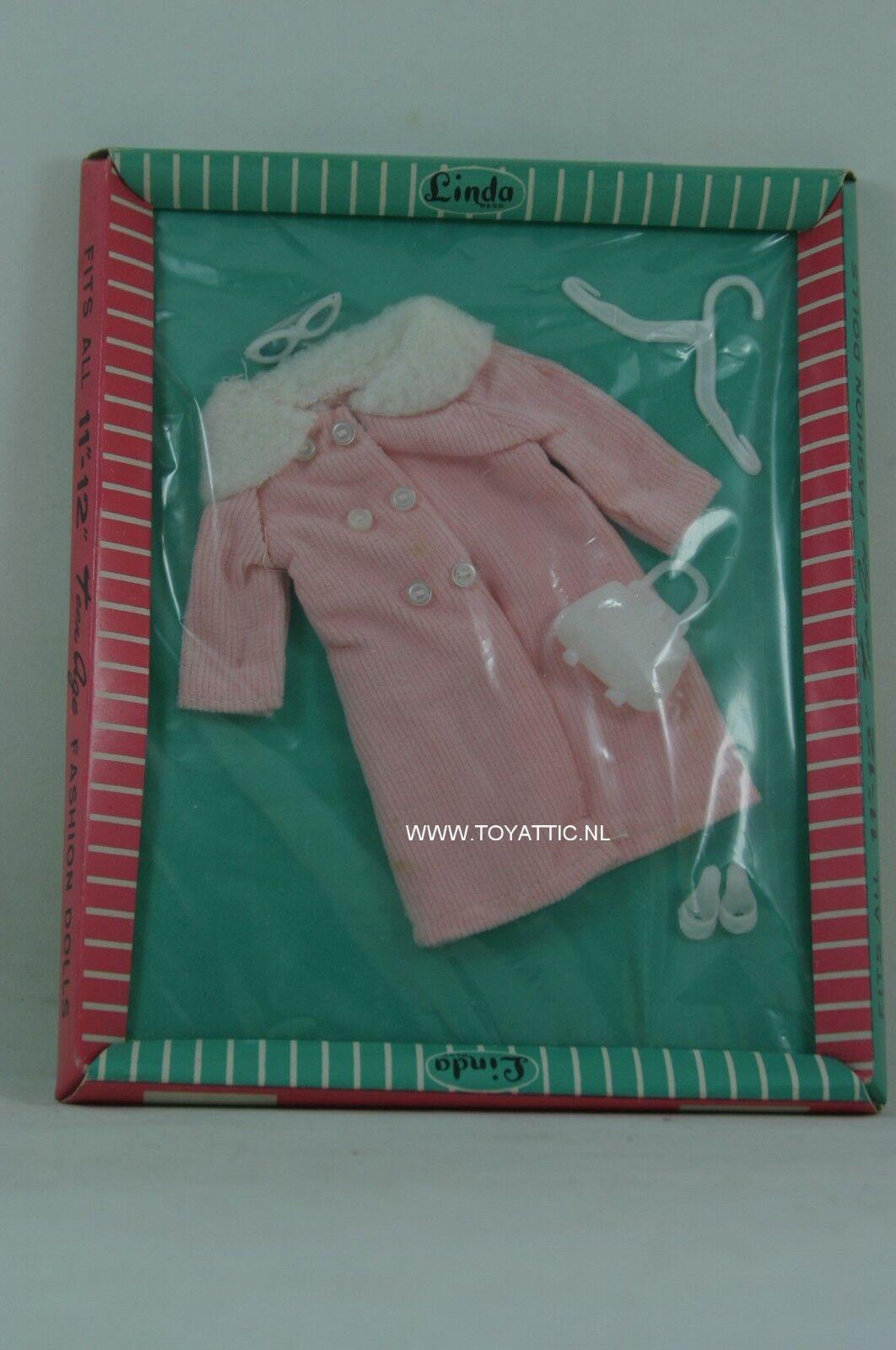 Sindy Barbie Vintage Tamaño De Moda rosado Abrigo de invierno para Linda en caja original Clon Moda