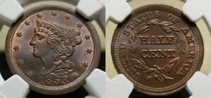 1853-Braided-Hair-Half-Cent-NGC-MS-66-RB-Pop-3-1