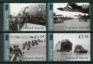 Falkland-Islands-Military-amp-War-Stamps-2019-MNH-WWII-WW2-D-Day-75th-Anniv-4v-Set