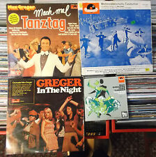 MAX GREGER ORCHESTER 10 SCHALLPLATTEN: GREGER IN THE NIGHT/TANZTAG/IINTERSHOP LP
