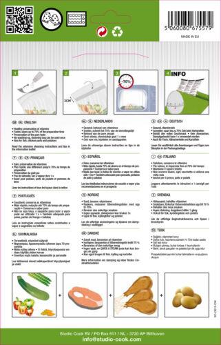 45 Dampf-Gar-Beutel für die Mikrowelle 25x26 cm Dampfgarbeutel Kochbeutel