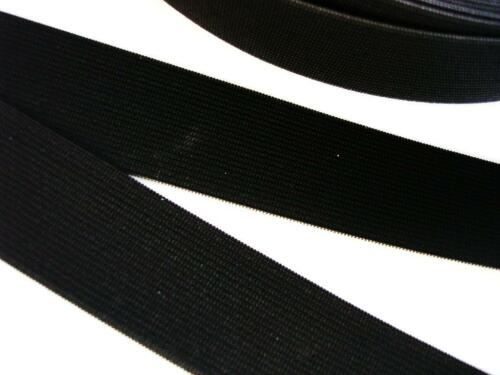"5 yards Black Elastic Band 1.5/"" inch Wide//Spandex//trim//sewing//notion T181-38mm"