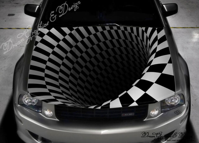 Decals Graphics Collection On EBay - Custom vinyl car hood decalsskull full color graphics adhesive vinyl sticker fit any car hood