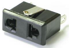 100 pcs Nema 1-15R//Euro 2 pin panel mount receptacle