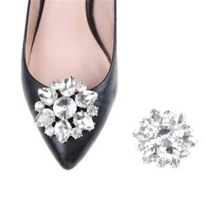 1PC-Crystal-Rhinestones-Shoe-Clips-Women-Bridal-Prom-Shoes-Buckle-Decor-X