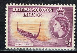 British Solomon Islands Aborigen Kanoo stamp 1960 MLH