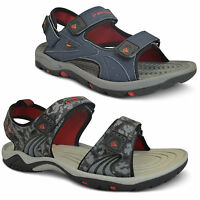 Mens Summer Sandals Walking Trekking Beach Casual Velcro Mules Shoes Size UK New
