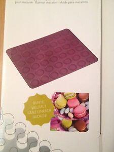 LURCH-Flexiform-Macaron-Plaetzchen-Backform-Silikon-backform-Backmatte-38x30
