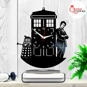 Details About Doctor Who Tardis Vinyl Record Wall Clock Home Art Decor Birthday Gifts