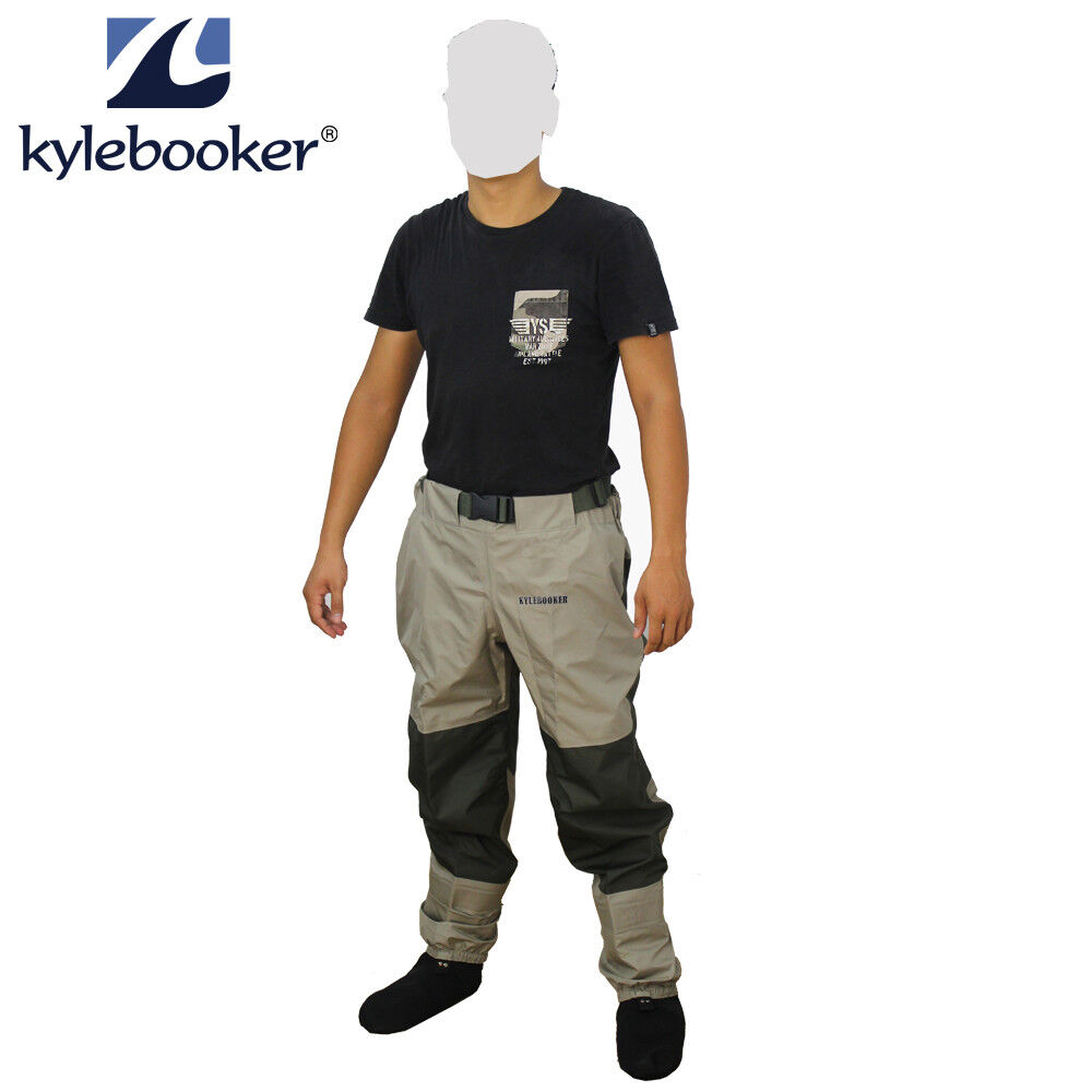 Fly pesca Waders Pants Breathable Waist Trousers Waterproof Stocrefoot Wader