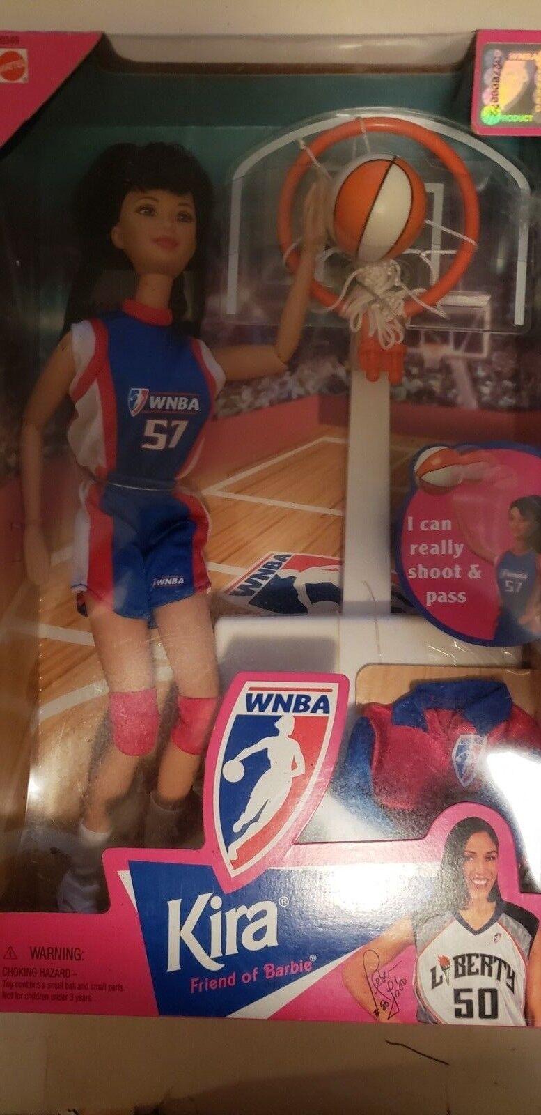 Friend of Barbie WNBA Basketball Kira Doll #20349 Mattel 1998 Really Shoots NIB