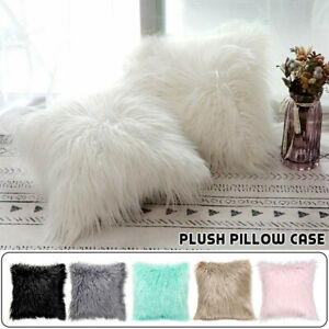 Soft-Faux-Fur-Fluffy-Pillow-Case-Plush-Cushion-Cover-Throw-Sofa-Bed-Home-Decor