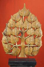 60cm Lebensbaum Deko Aufsteller Skulptur massiv Holz Thailand buddha Dekoration