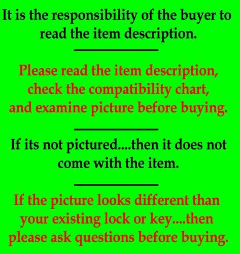 Medium Key Cylinder Pair /& Trunk Lock Chrome 2 GM Logo Keys GM Chevy Door Lock