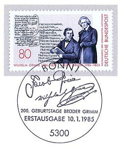 BRD-1985-Gebrueder-Grimm-Nr-1236-mit-dem-Bonner-Ersttags-Sonderstempel-1A-20-05