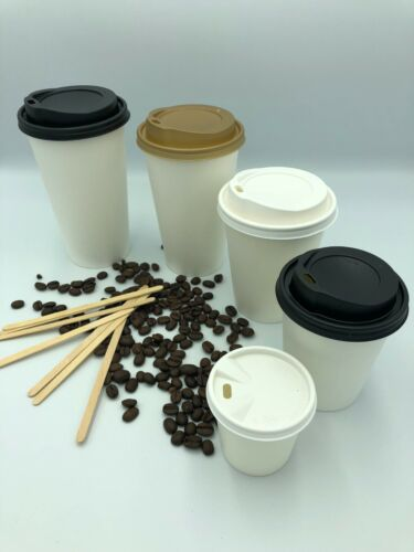 4//8//12//16oz Disposable Cups Paper Coffee Cups For Hot Drinks White Paper Cups