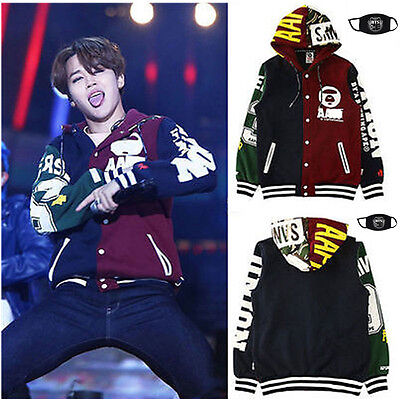 Kpop BTS Wings Cap Hoodie Sweater Unisex Bangtan Boys JUNGKOOK Sweatershirt Coat