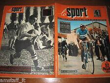 LO SPORT 1952/46= FOTO POSTER BOLOGNA 1952/53=FAUSTO COPPI=RUGBY=ROMANUTTI