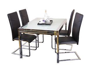 esszimmertisch ausziehbar 120 240 cm esstisch glastisch k chentisch tisch ebay. Black Bedroom Furniture Sets. Home Design Ideas