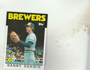 FREE-SHIPPING-MINT-1986-Topps-519-Danny-Darwin-Brewers-PLUS-BONUS-CARDS