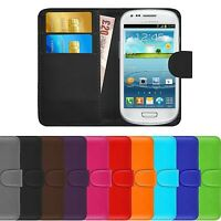 Premium Luxury Leather Flip Wallet Book Case Cover For Samsung Galaxy S3 Mini