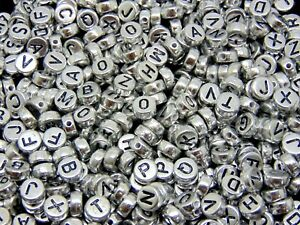 500-Pcs-7mm-Silver-Acrylic-Coloured-Alphabet-Round-Letter-Beads-Jewellery-M136