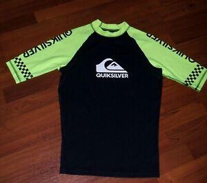 QUICKSILVER-Beach-Rash-Guard-3-4-Sleeve-Performance-Surfing-Shirt-Women-039-s-S-NWOT