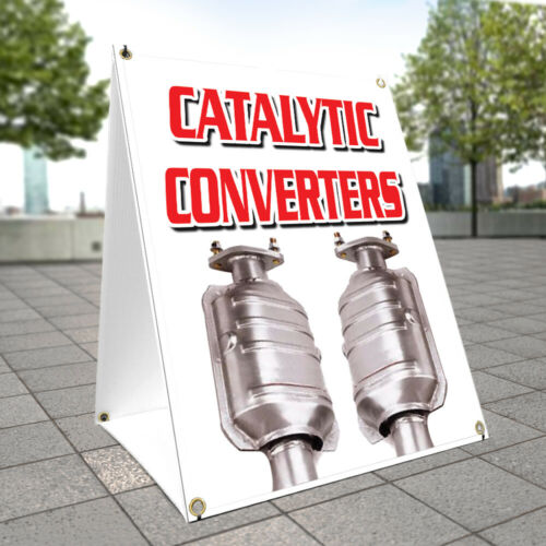 A-frame Sidewalk Sign Catalytic Converters Double Sided Graphics