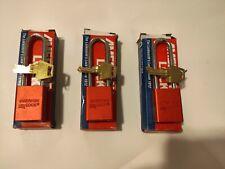 American Lock A1107 Red Osha Safety Aluminum Lockout Padlocks 1 Key Set Of 3