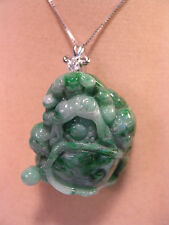 """Grade A green jade carved """"Turtle"""" pendant/necklace ( without chain)"""