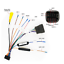 ISO-20Pin-Arnes-de-cableado-Conector-Con-Adaptador-de-camara-de-vision-trasera-para-auto-Stereo-DVD miniatura 5
