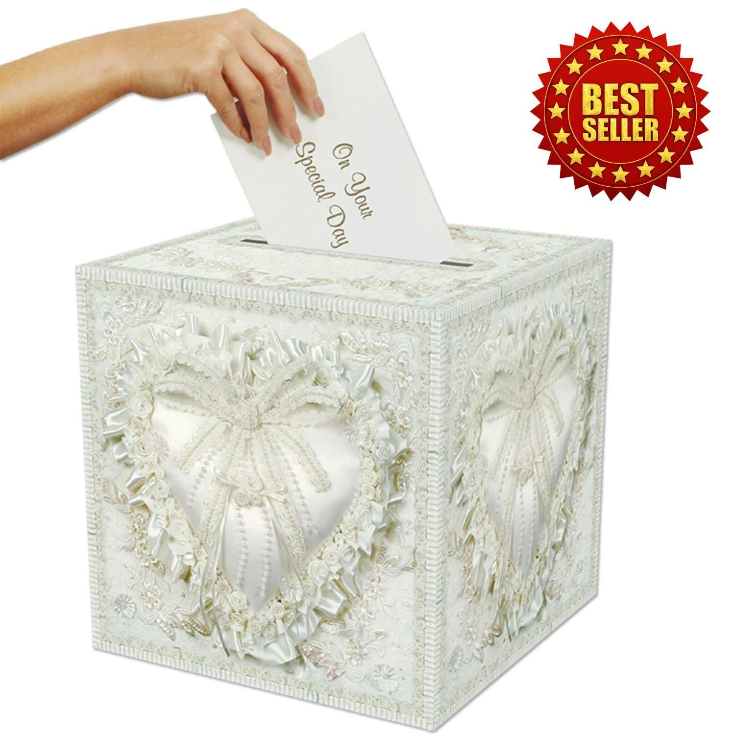 Details About Wedding Card Box Money Holder Party Reception Gift Envelope Collections Boxes
