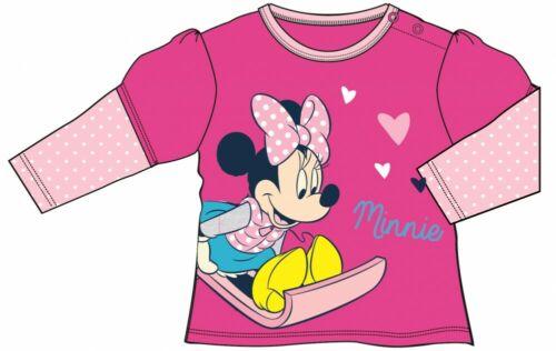 Minnie Mouse Mädchen Baby Shirt Langarm Gr 68-86 NEU