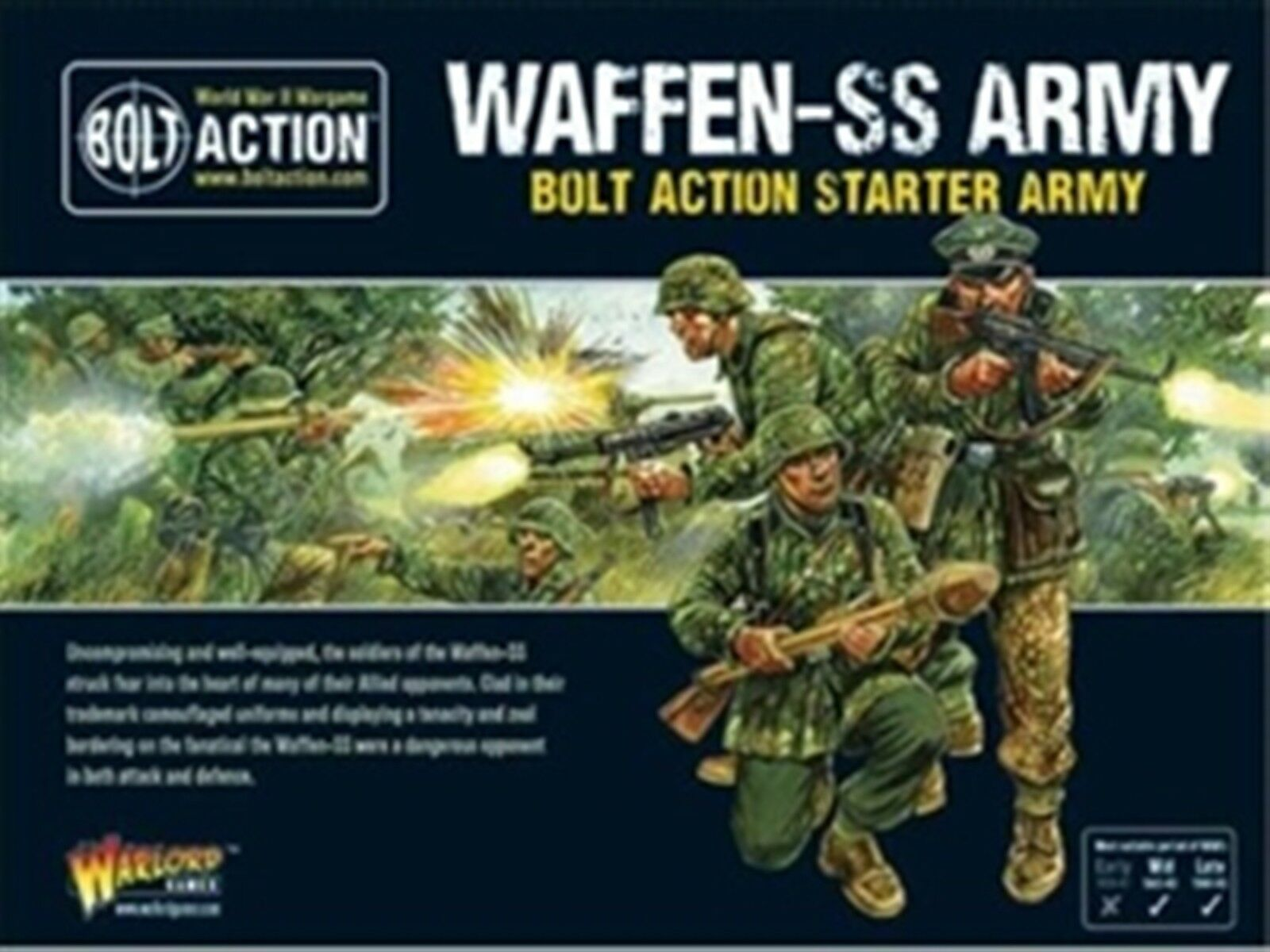 NYA BOLT -HANDLINGSFRIMINATURER 1500PTS GERMAN WAFFEN -SS STkonstER KRITERIER 402612101