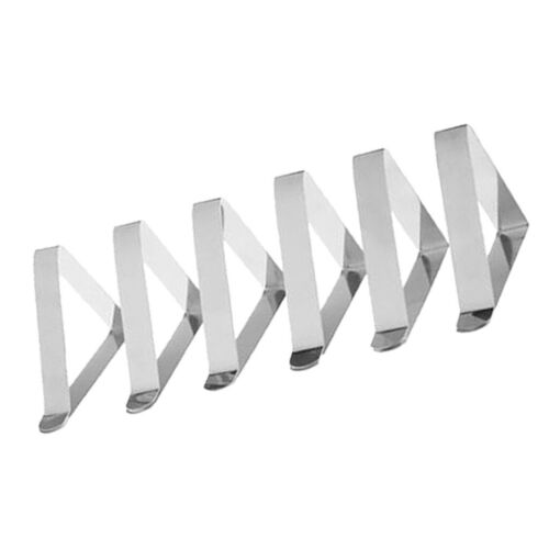 6Pcs Tablecloth Clips Set Stainless Steel Clamps Metal Buckle Party Supplies