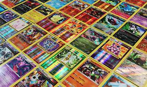 Pokemon-TCG-50-tarjeta-Lote-frecuentes-poco-frecuentes-Garantizado-Rarezas-amp-Holo-Tarjetas