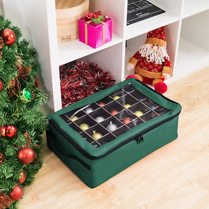 Details about  /Totes storage box Premium 48 Christmas Ornament Organizer red green home decor