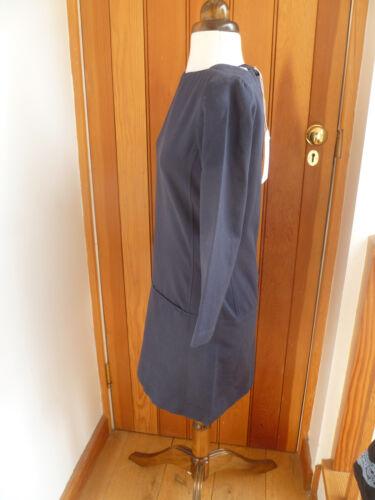6 Toast Robe Uk texturé bleu Bnwt poches tunique Coton Smart avec Amika marine APZAgRFqw