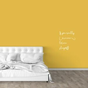 Details about If You Really Love Me Let Me Sleep Wall Decal - Bedroom,  Sleep, Love Quotes