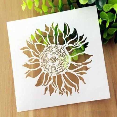 Sunflower Pattern Layering Stencil Template DIY Scrapbooking Home Decor Gift \