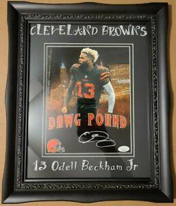 Odell-Beckham-Jr-Cleveland-Brown-039-s-Autographed-Photo-JSA-C-O-A
