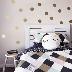 Mur-Polka-Dot-autocollant-or-Art-Decals-chambre-enfants-amovible-decoration-murale-neuf