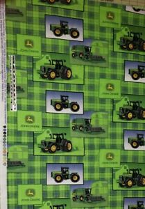 Springs Creative John Deere Cotton 1900s Farmers Pocket 64107A620715 fabric