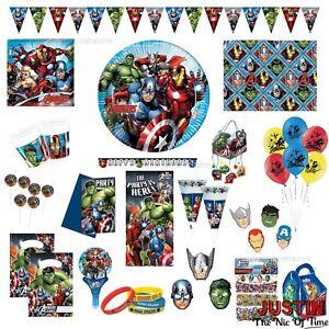 d26171133d56 Caricamento dell immagine in corso Avengers -Super-Eroe-Hulk-Ironman-Ragazzi-Festa-Di-