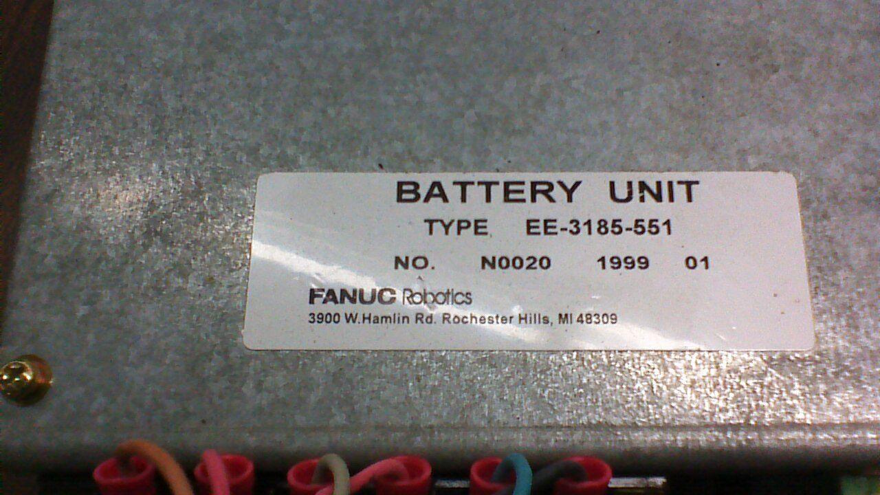 FANUC ROBOTICS BATTERY UNIT EE-3185-551.       FS