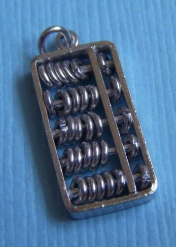 1 gram Sterling silver abacus charm with moveable beads