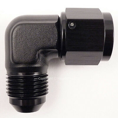 AN -12 AN12 JIC BLACK 90 Degree MALE to FEMALE Forged Elbow Hose Fitting Adapter