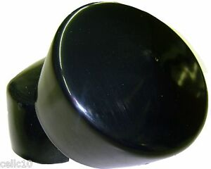 "Lot of 2 Black Plastic Caps - Fits 3"" OD Tubing - Flexible End Cap 3.00"""